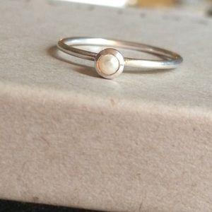 Silpada.925 Sterling & Pearl June Birthstone Ring.